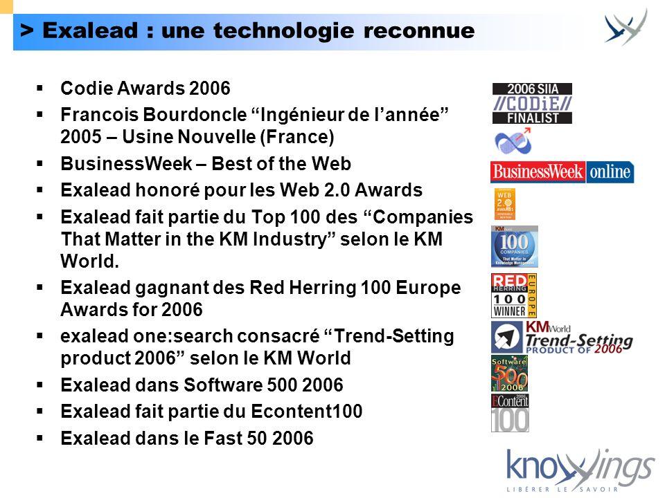 > Exalead : une technologie reconnue