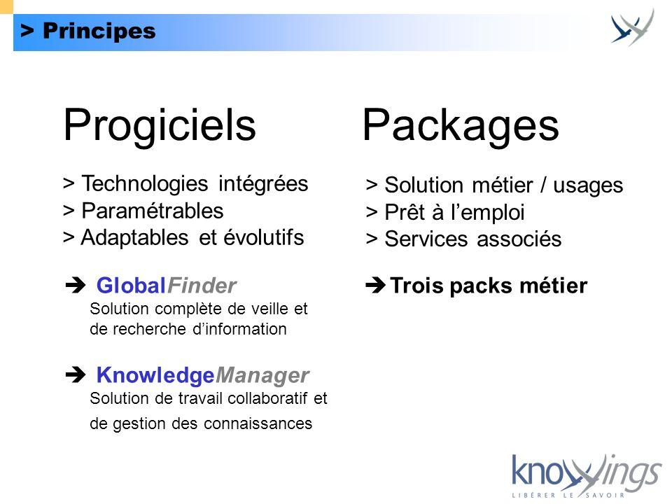 Progiciels Packages > Principes > Technologies intégrées