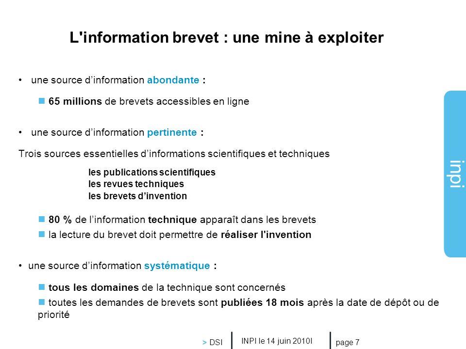 L information brevet : une mine à exploiter