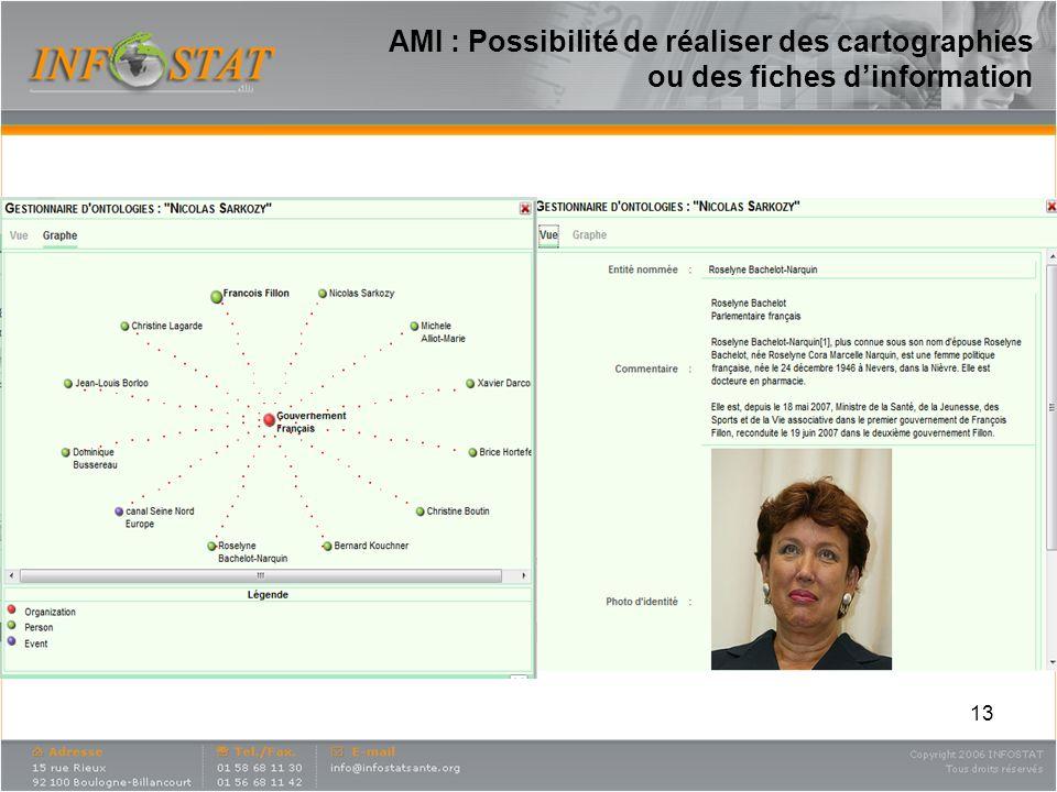 AMI : Possibilité de réaliser des cartographies ou des fiches d'information
