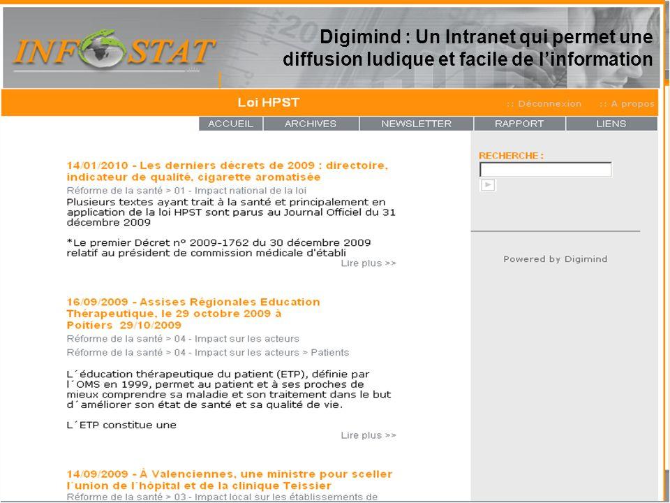 Rapport Lexis Nexis Digimind : Un Intranet qui permet une diffusion ludique et facile de l'information.