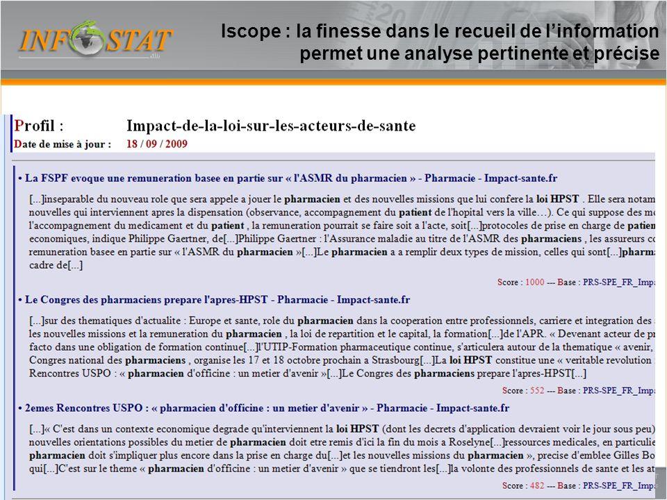 Iscope : la finesse dans le recueil de l'information permet une analyse pertinente et précise