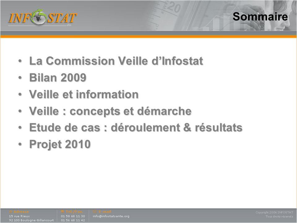 Sommaire La Commission Veille d'Infostat. Bilan 2009. Veille et information. Veille : concepts et démarche.