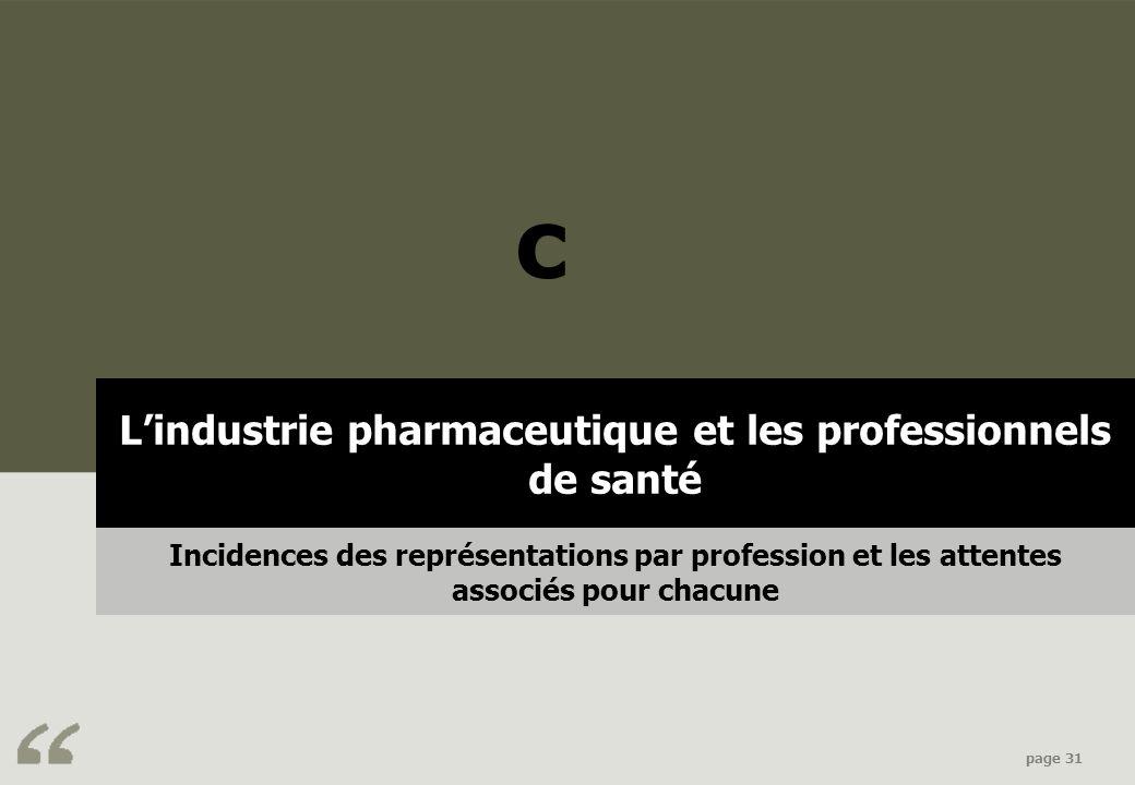 L'industrie pharmaceutique et les professionnels de santé