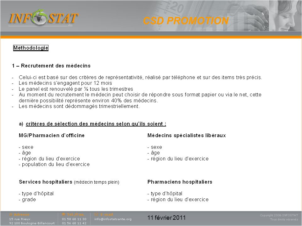 CSD PROMOTION 11 février 2011
