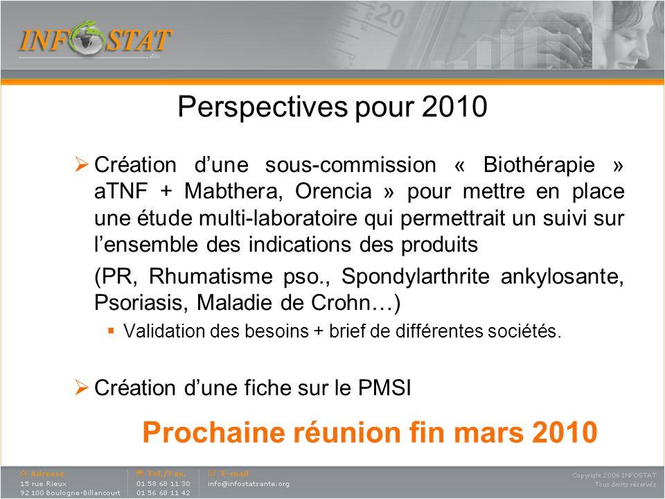 Prochaine réunion fin mars 2010