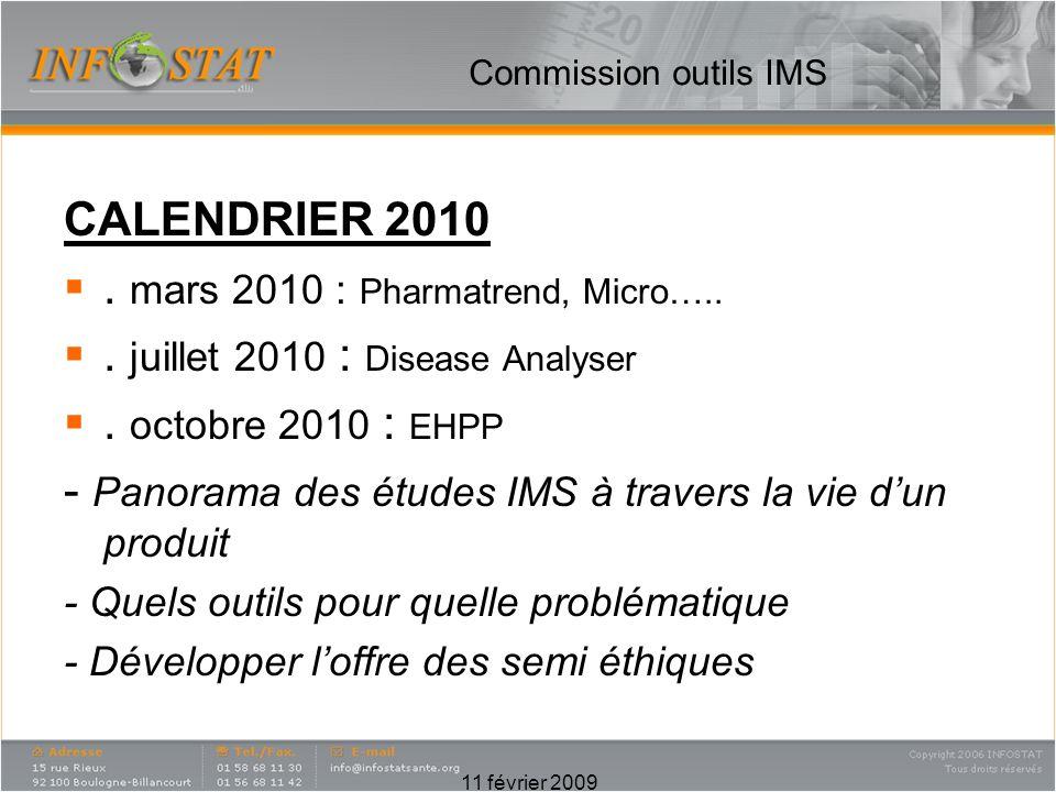 . mars 2010 : Pharmatrend, Micro….. . juillet 2010 : Disease Analyser