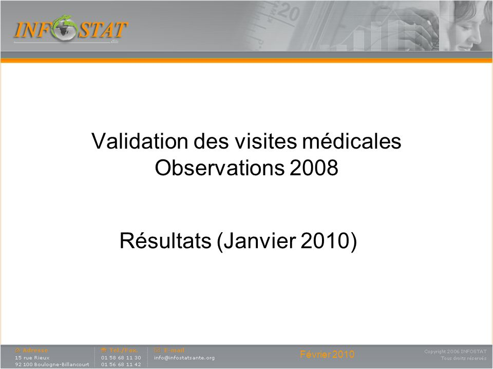 Validation des visites médicales Observations 2008