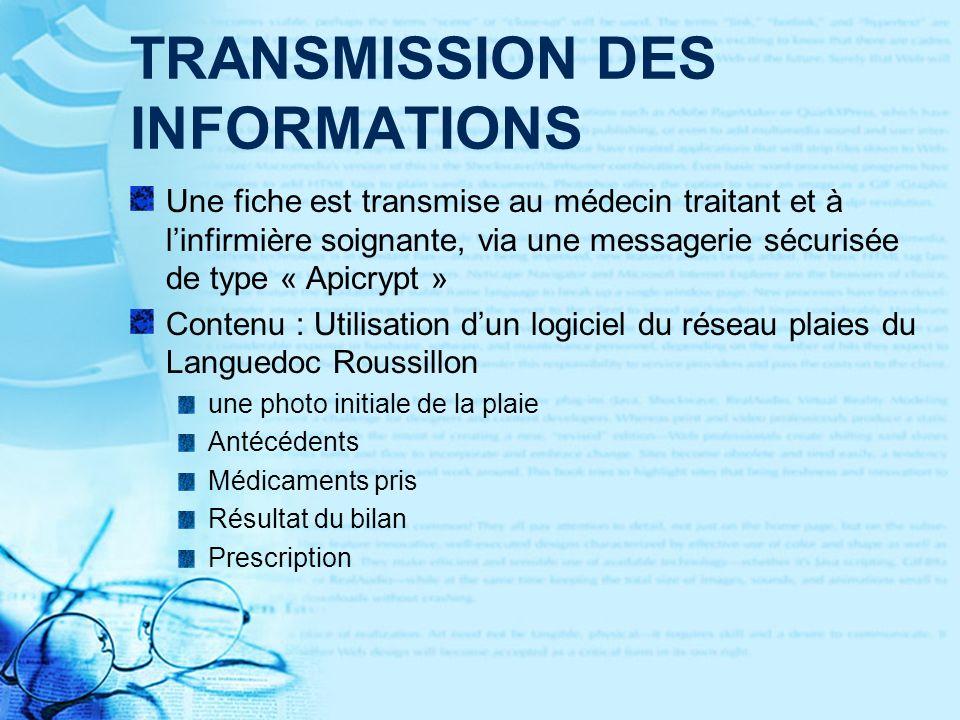 TRANSMISSION DES INFORMATIONS