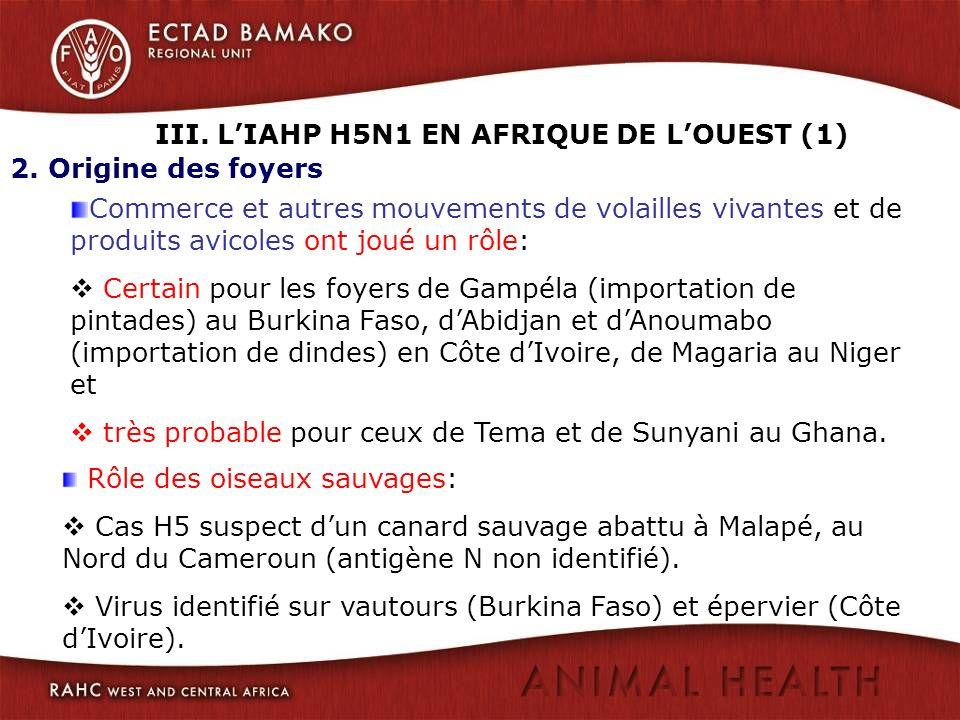 III. L'IAHP H5N1 EN AFRIQUE DE L'OUEST (1)