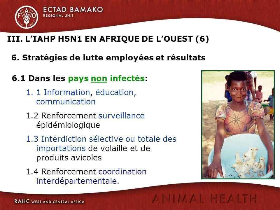 III. L'IAHP H5N1 EN AFRIQUE DE L'OUEST (6) 6