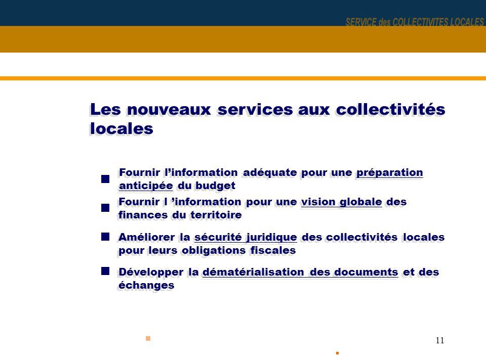 Les nouveaux services aux collectivités locales