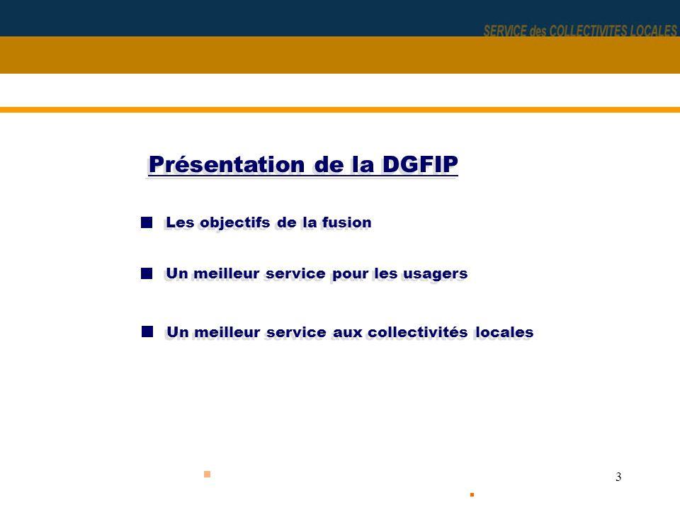 Présentation de la DGFIP