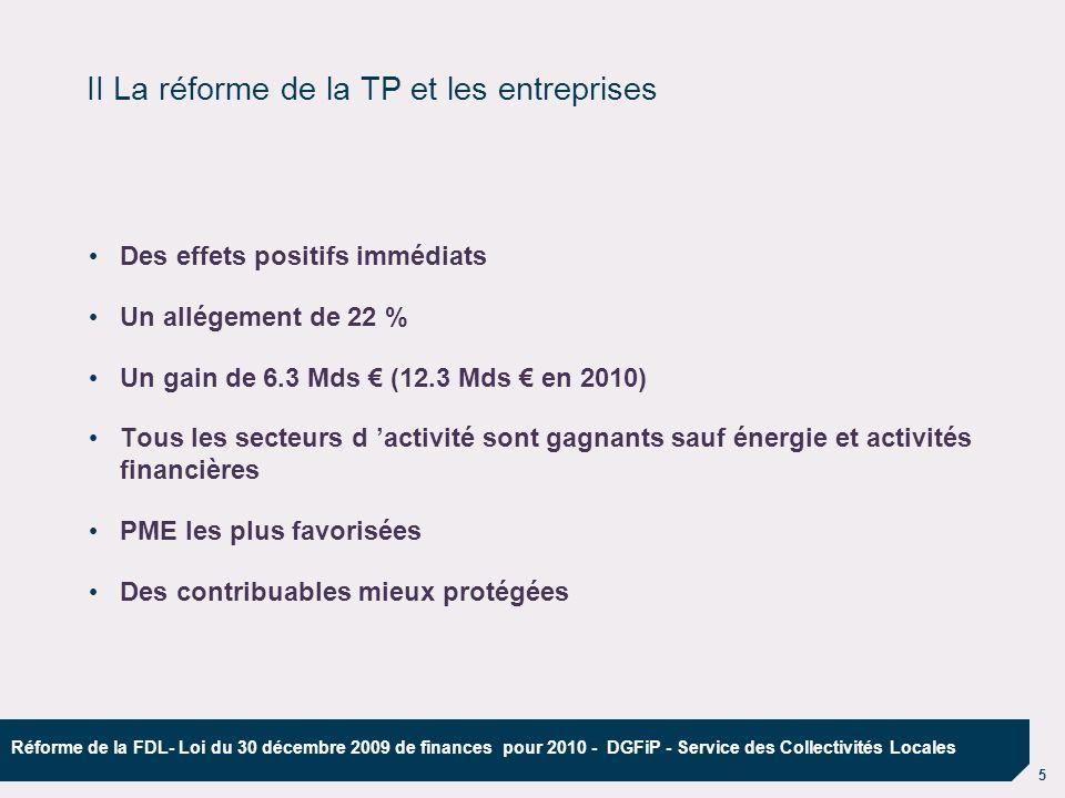 II La réforme de la TP et les entreprises