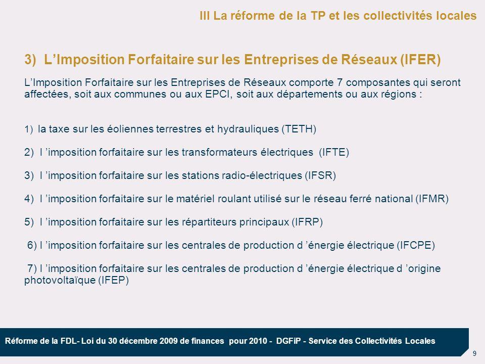 3) L'Imposition Forfaitaire sur les Entreprises de Réseaux (IFER)