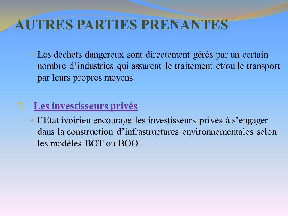 AUTRES PARTIES PRENANTES