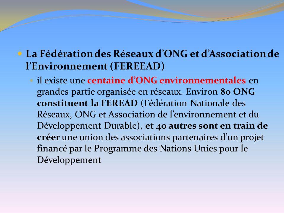 La Fédération des Réseaux d'ONG et d'Association de l'Environnement (FEREEAD)