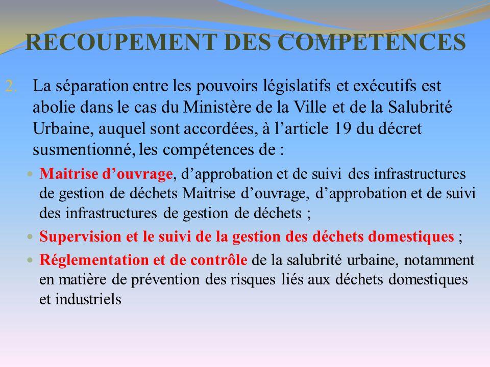 RECOUPEMENT DES COMPETENCES