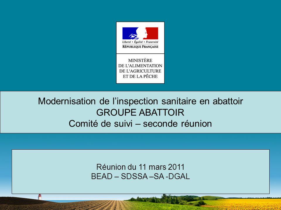 Modernisation de l'inspection sanitaire en abattoir GROUPE ABATTOIR