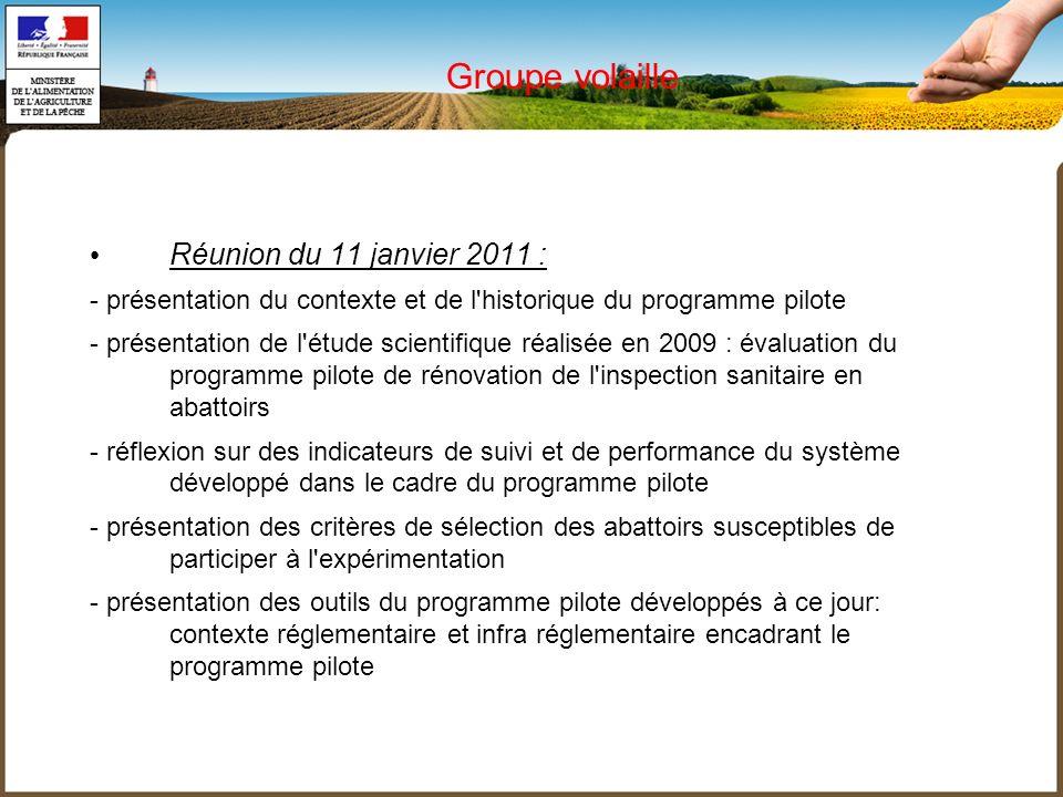 Groupe volaille Réunion du 11 janvier 2011 :