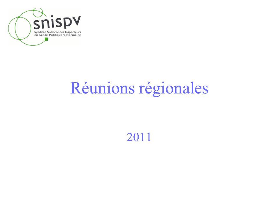 Réunions régionales 2011