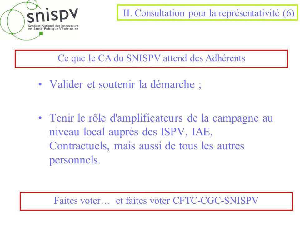 II. Consultation pour la représentativité (6)