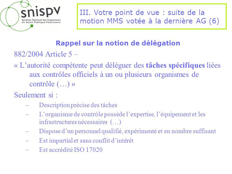 Rappel sur la notion de délégation