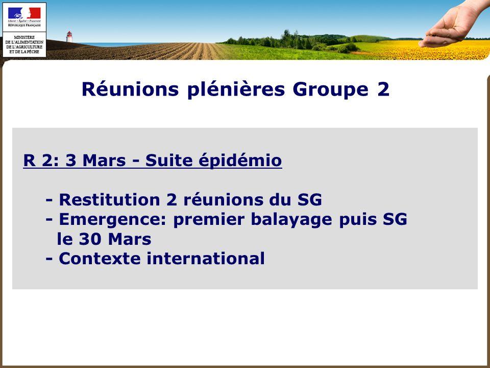 Réunions plénières Groupe 2