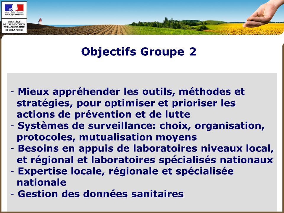 Objectifs Groupe 2 Mieux appréhender les outils, méthodes et