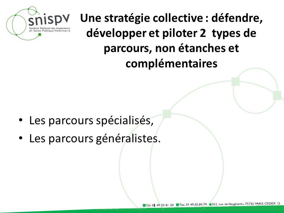 Une stratégie collective : défendre, développer et piloter 2 types de parcours, non étanches et complémentaires