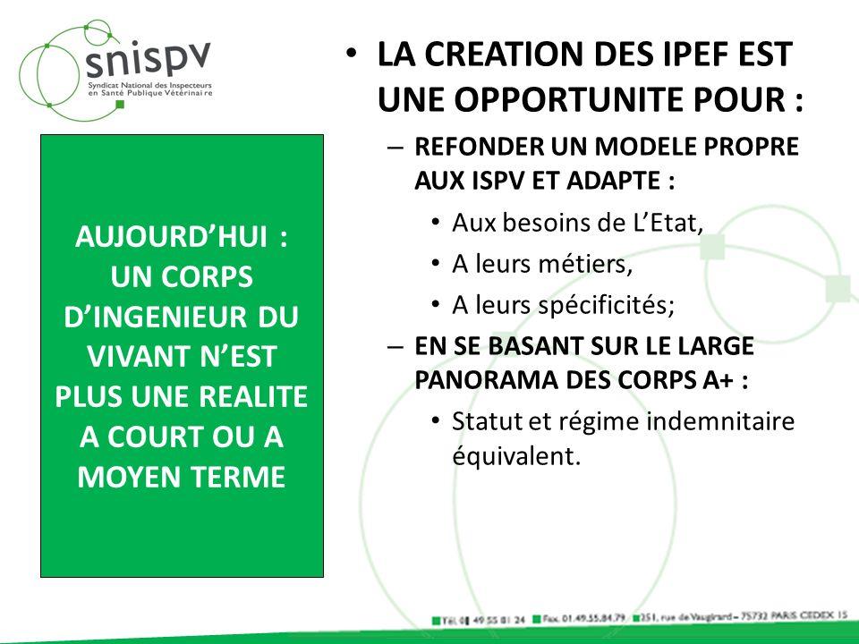 LA CREATION DES IPEF EST UNE OPPORTUNITE POUR :