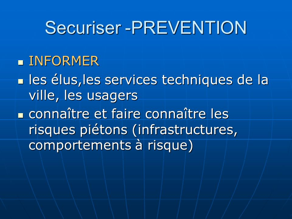 Securiser -PREVENTION