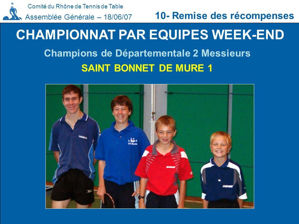 CHAMPIONNAT PAR EQUIPES WEEK-END