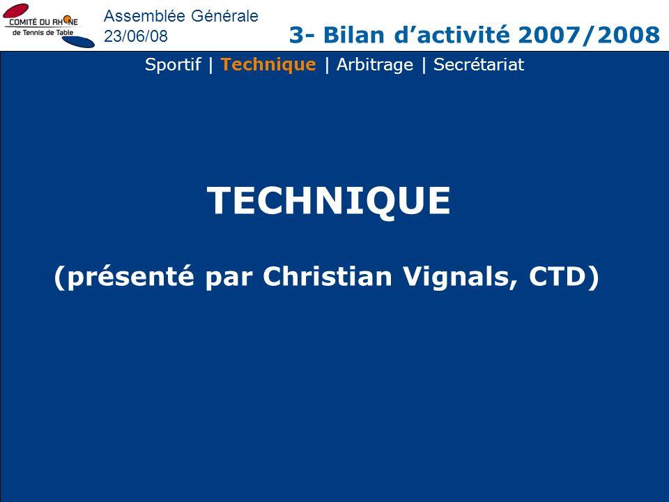 (présenté par Christian Vignals, CTD)