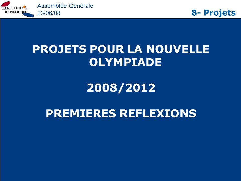 PROJETS POUR LA NOUVELLE OLYMPIADE
