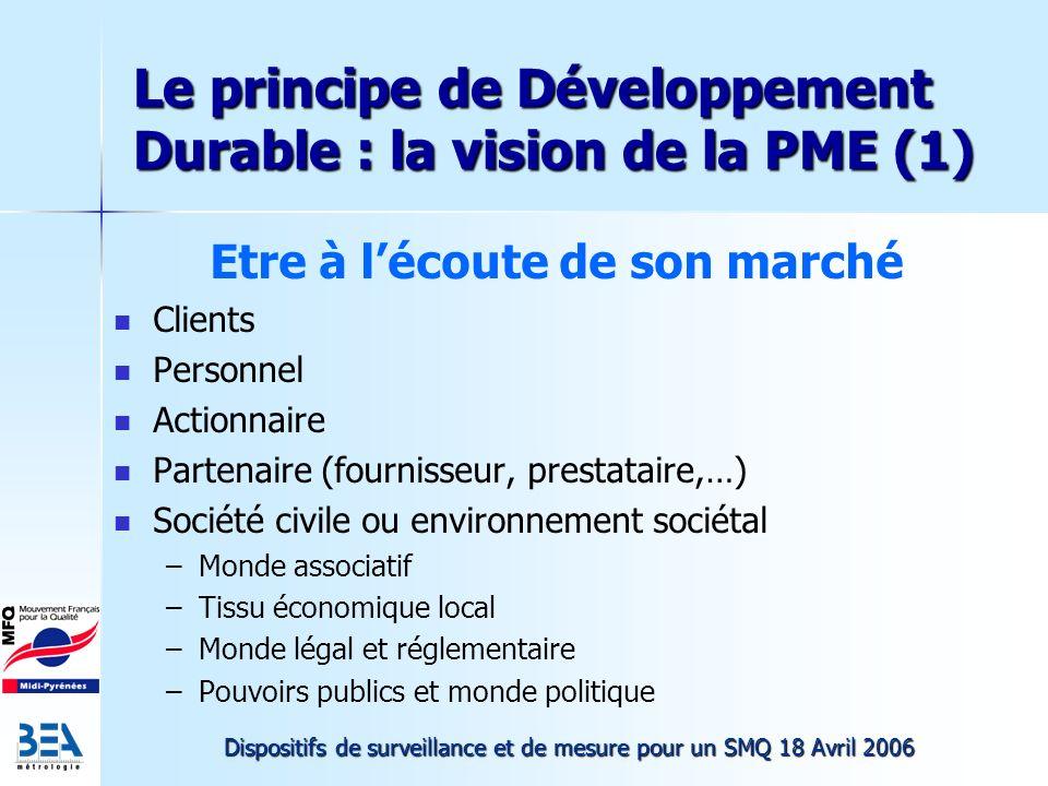 Le principe de Développement Durable : la vision de la PME (1)