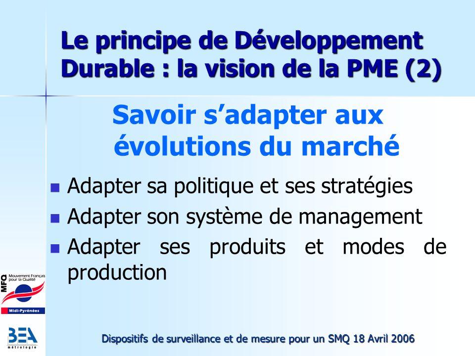 Le principe de Développement Durable : la vision de la PME (2)