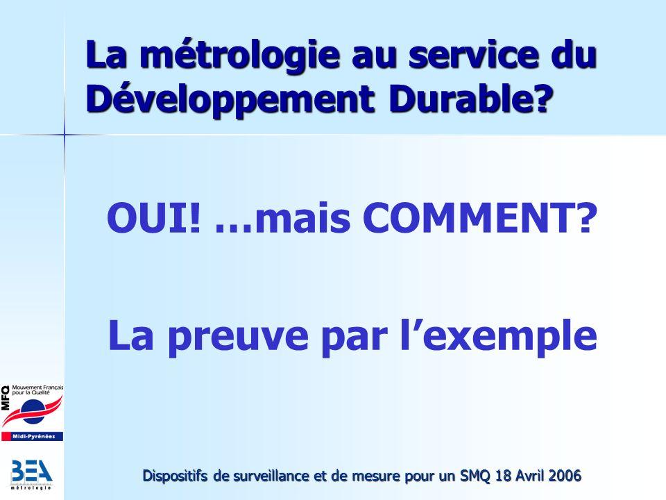 La métrologie au service du Développement Durable