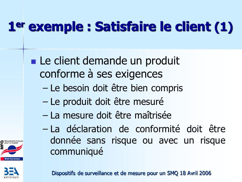 1er exemple : Satisfaire le client (1)