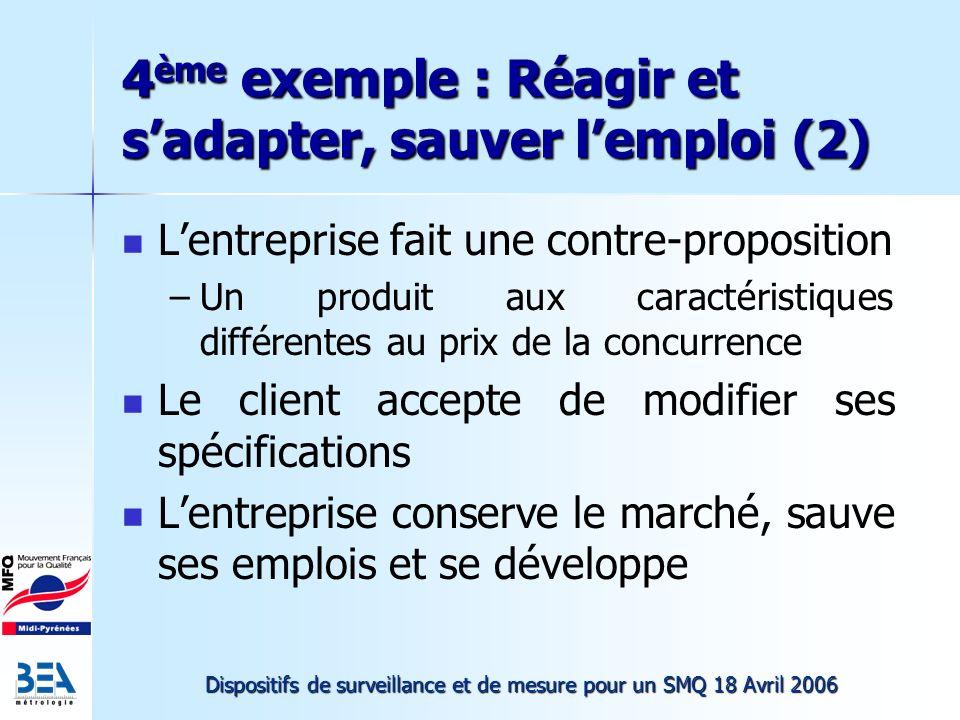 4ème exemple : Réagir et s'adapter, sauver l'emploi (2)