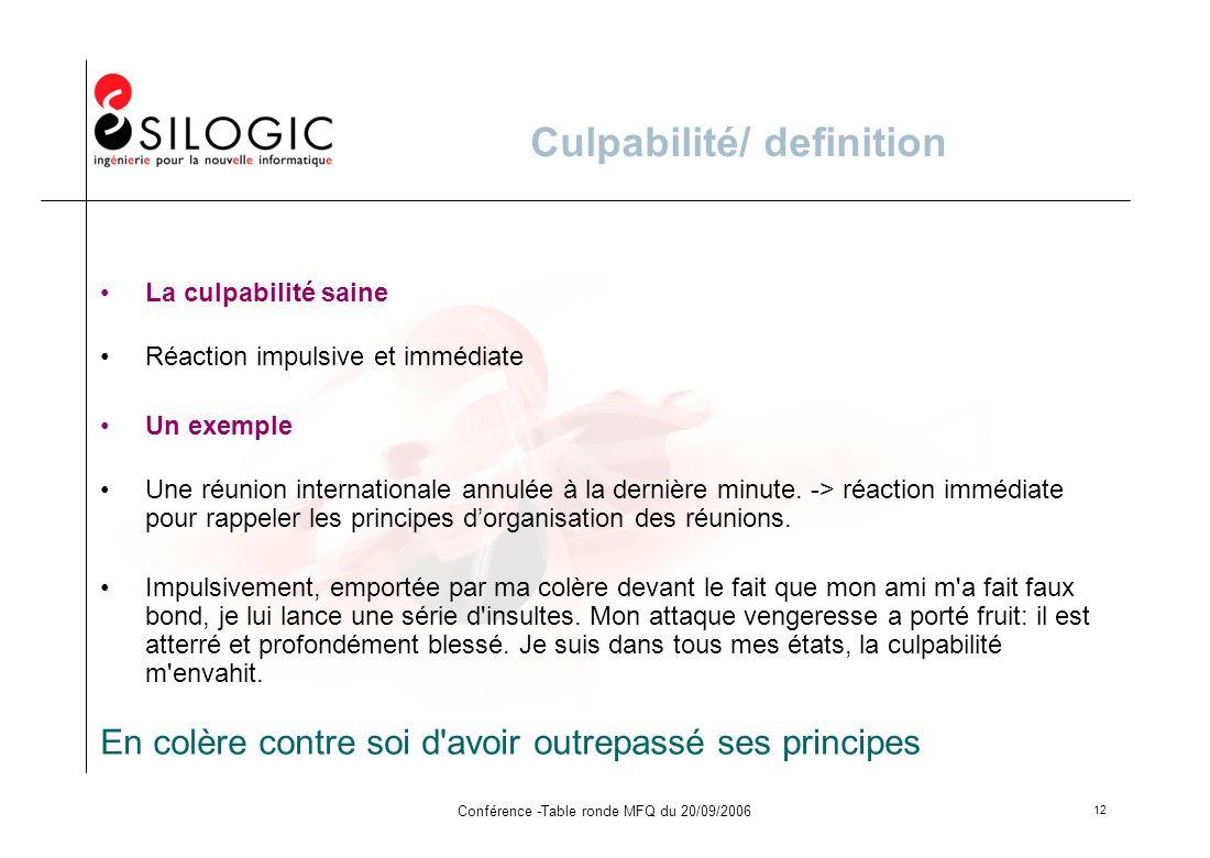 Culpabilité/ definition