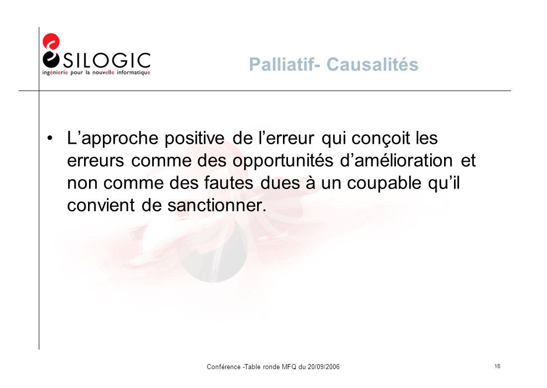Palliatif- Causalités