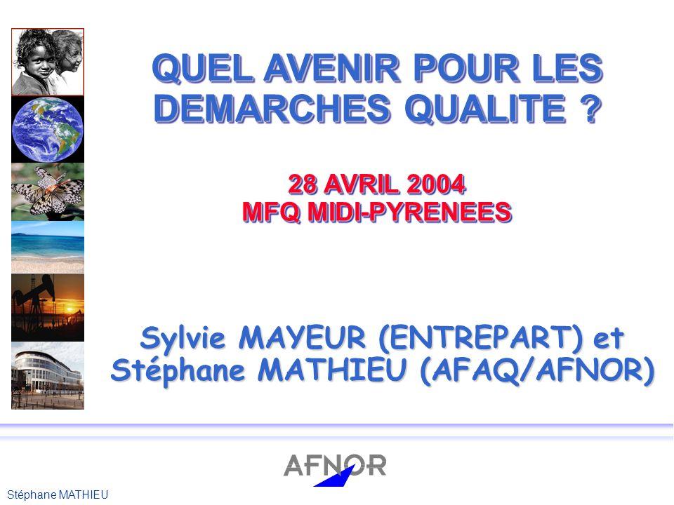 Sylvie MAYEUR (ENTREPART) et Stéphane MATHIEU (AFAQ/AFNOR)