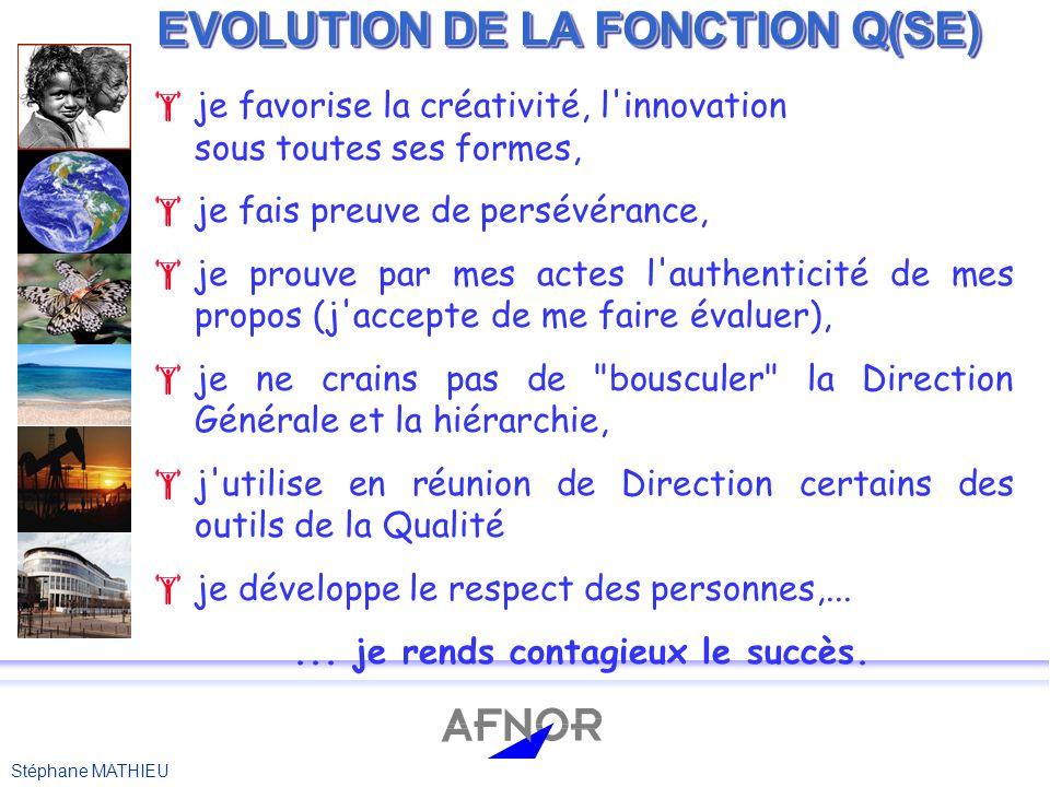 EVOLUTION DE LA FONCTION Q(SE)