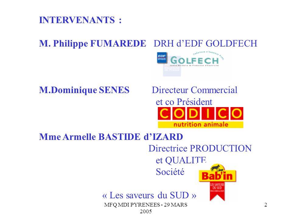 M. Philippe FUMAREDE DRH d'EDF GOLDFECH