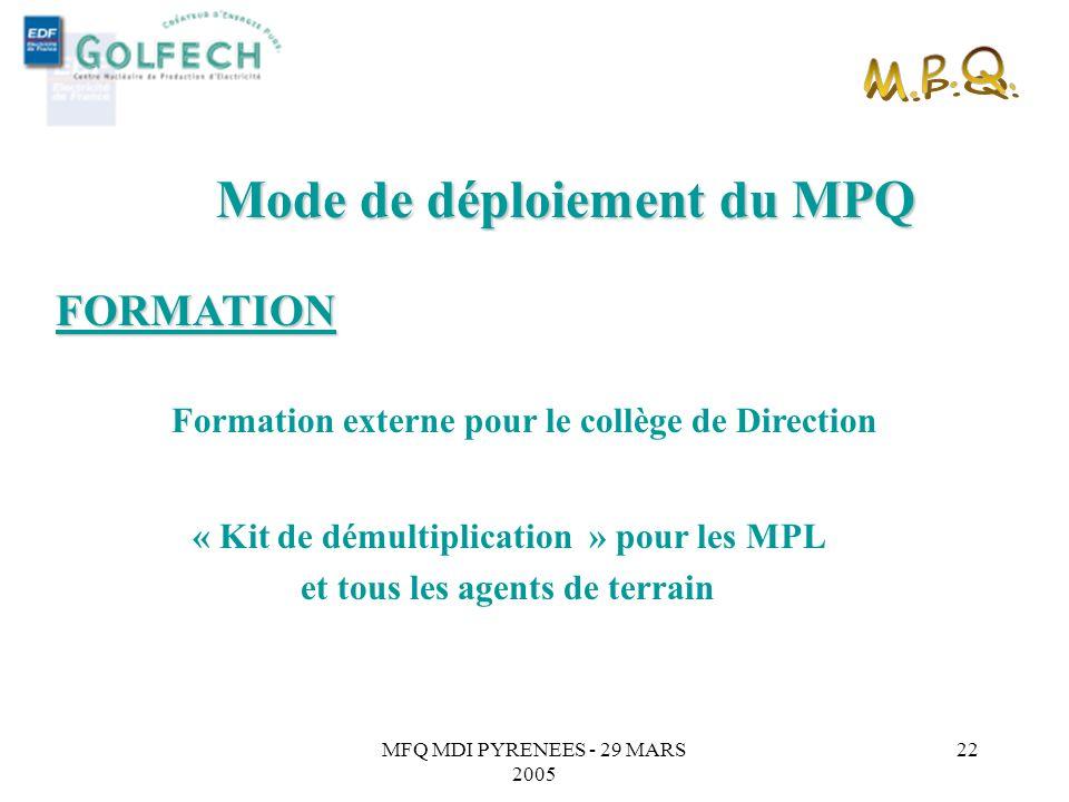 « Kit de démultiplication » pour les MPL et tous les agents de terrain