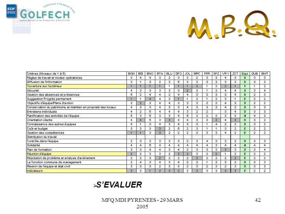 M.P.Q. S'EVALUER MFQ MDI PYRENEES - 29 MARS 2005