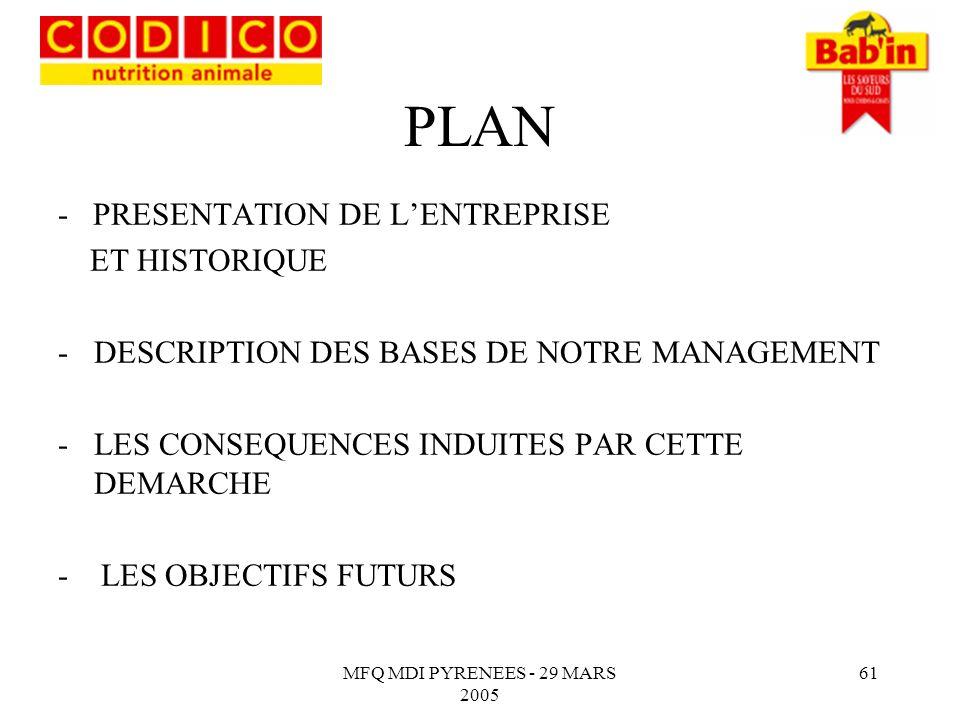 PLAN - PRESENTATION DE L'ENTREPRISE ET HISTORIQUE