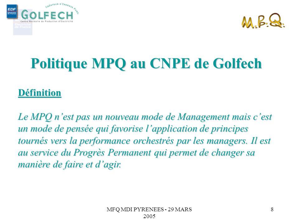 Politique MPQ au CNPE de Golfech