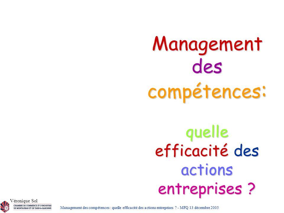 Management des compétences: quelle efficacité des actions entreprises